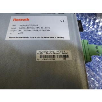 Bosch Canada France Rexroth Indramat HCS02.1E-W0028 mit Speicherkarte