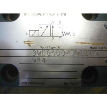 New Germany Japan Mannesman Rexroth 3WE6A60/EW110N9K4 Directional Control Valve