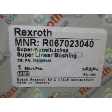 REXROTH France Germany R067023040 SUPER LINEAR BUSHING *NEW IN BOX*