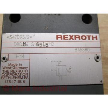 Rexroth Mexico India DBDH6 G16315/12 Pressure Relief Valve - Used