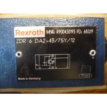 New China Russia Rexroth R900430193 ZDR 6 DA2-43/75Y/12 ZDR6DA2-43/75Y/12 Valve