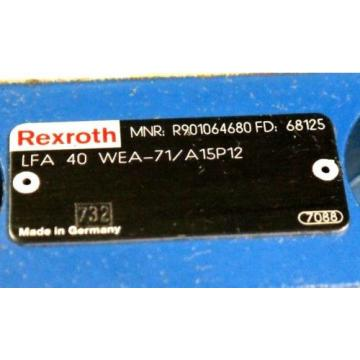 REXROTH Japan Canada LFA40WEA-71/A15P12 HYDRAULIC CARTRIDGE VALVE R901064680 NEW