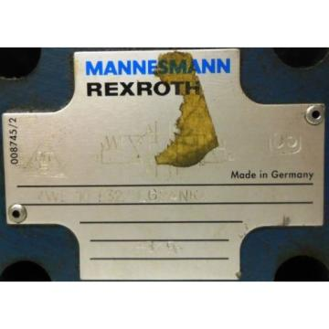REXROTH Japan France MANNESMANN SOLENOID ACTUATED HYDRAULIC VALVE 4WE10E32/LG24NK4