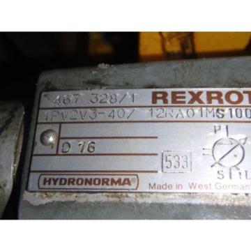 Rexroth Korea Canada Hydronorma Pump_1PV2V3-40/12RA01MS100 w/Motor