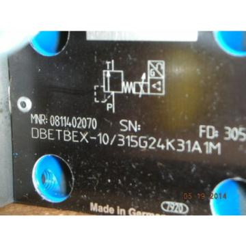Bosch Japan Korea Rexroth 0 811 402 070 Hydraulic Proportional Valve DBETBEX-1X/315G24K31A1M