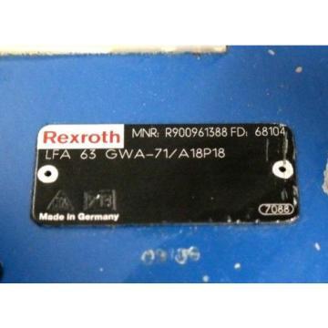 REXROTH France Italy LFA63GWA-71/A18P18 HYDRAULIC CARTRIDGE VALVE R900961388 NEW