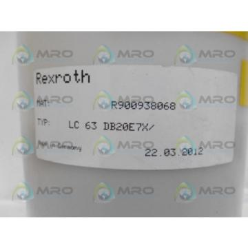 REXROTH Italy Germany R900938068 LC63DB20E7X LOGIC CARTRIDGE *NEW NO BOX*