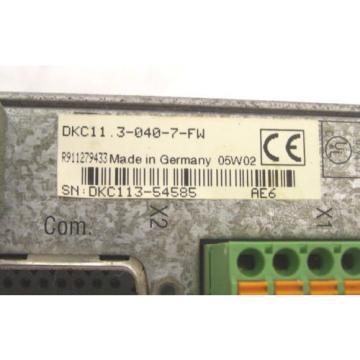 INDRAMAT Canada Japan REXROTH DRIVE DKC11.3-040-7-FW FWA-ECODR3-SGP-03VRS-MS 60 Day Warranty!