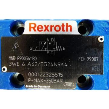 Rexroth Canada Australia 3WE 6 A62/EG24N9K4 MNR: R900561189 Pmax 350bar Wegeventil -unused-