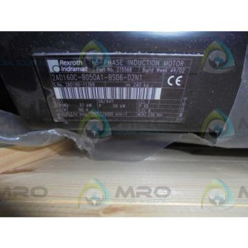 REXROTH Greece Canada INDRAMAT 2AD160C-B050A1-BS06-D2N1 SERVO MOTOR SPINDLE *NEW IN BOX*