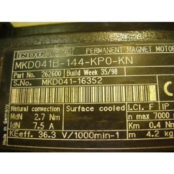 REXROTH Egypt India INDRAMAT SERVO MOTOR MKD041B-144-KPO-KN