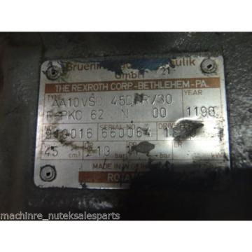 Rexroth Mexico Greece Hydraulic Pump AA10VSO 45DR/30 R-PKC-62-N-00_AA10VSO45DR/30RPKC62N00