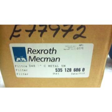 "REXROTH USA Canada MECMAN FILTER 5351 286 060 D48 1"" METAL 5M 535 128 606 0 NEW 5351286060"