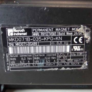 Rexroth Canada Greece Indramat Servomotor MKD071B-035-KP0-KN R911274565 NOV