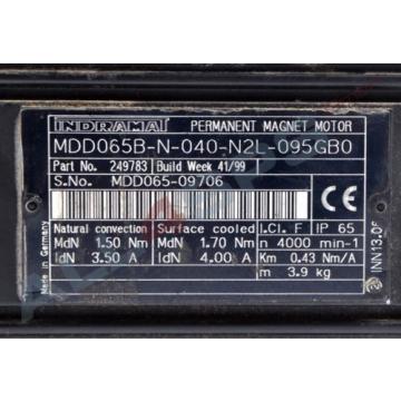 BOSCH Korea Japan REXROTH INDRAMAT DREHSTROMSERVOMOTOR, MDD065B-N-040-N2L-095GB0 GEBRAUCHT