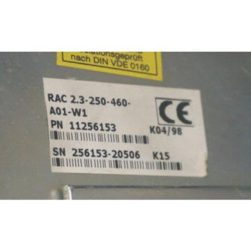 REXROTH Singapore Singapore RAC2.3-250-460-A01-W1 SERVO SPINDLE DRIVE 11256153, RAC23250460A01W1 ...