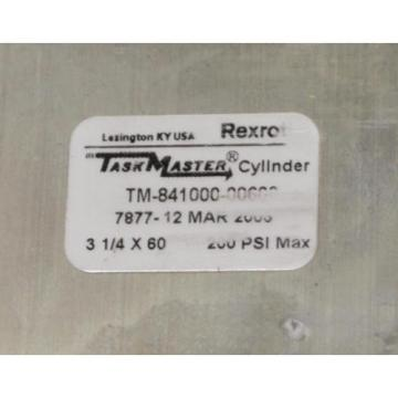"NEW Greece Greece REXROTH 60"" STROKE PNEUMATIC AIR CYLINDER 3-1/4"" BORE TM-841000-00600"