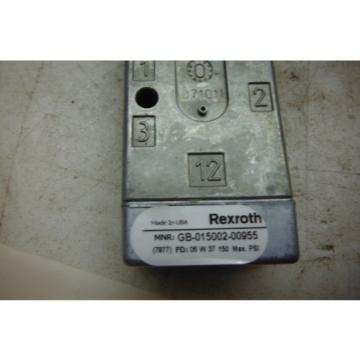 REXROTH China USA GB-015002-00955   MINIMASTER  VALVE  NEW