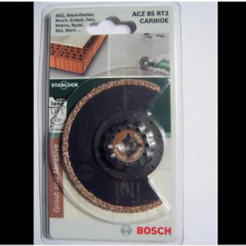 Bosch Starlock ACZ 85 RT3 Carbide RIFF Segment Saw Blade Grout & Abrasive 85mm