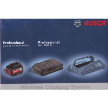 Bosch Set WIRELESS batteria 18V 4 Ah + CARICABATTERIE WIRELESS GAL 1830 W boch