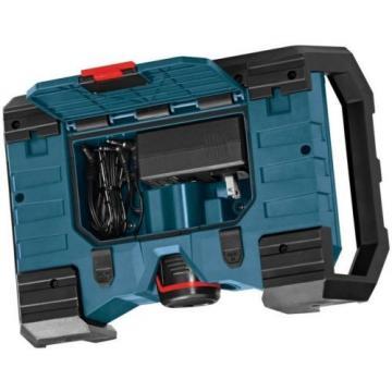 Men's Black Heated Jacket Kit 12 Volt Lithium-Ion Cordless Compact Jobsite Radio