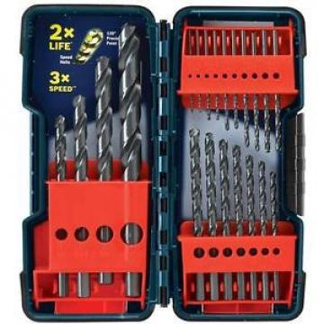 Bosch BL21 21PC Black Oxide Twist Drill Bit Set for Metal, Wood, Plastic, New