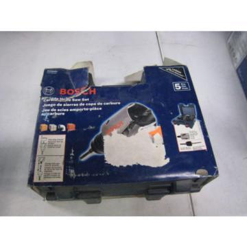 Bosch HTC5HPC Carbide-Tipped 5-Piece Easy Plug Removal Hole Saw Kit w/ Case