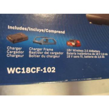 Bosch Tools 18V Wireless Charging Starter Kit w/ BATTERY & Frame WC18CF-102 NEW