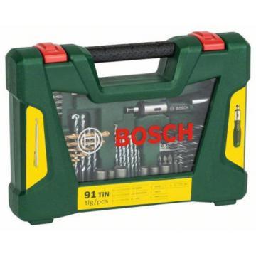 Bosch V-Line Titanium Drill and Bit Set 91pcs Incl. Ratchet Screwdriver GENUINE