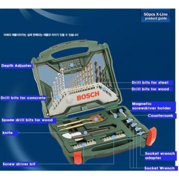 Bosch Multi Purpose 50 pc X line Bit Set - Driver Drill Bits New Original