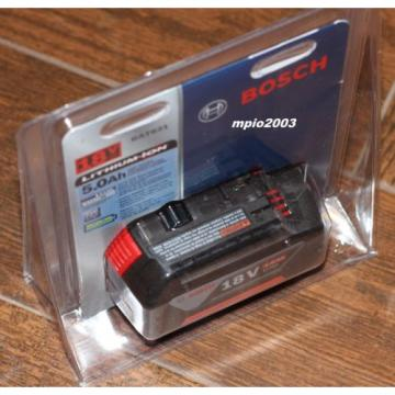 NEW Bosch 18 Volt BAT621 FatPack Battery 18V Li-Ion 5.0Ah W/Fuel Gauge