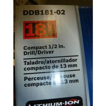 Bosch DDB181-02 18V Lithium Ion Drill