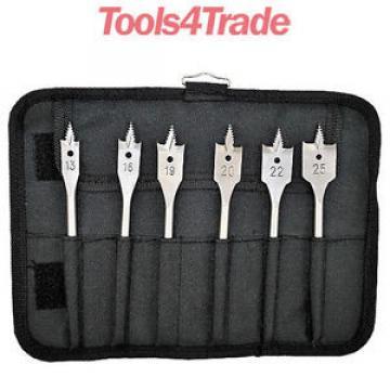 Bosch 2608587793 6pc SelfCut Flat Wood Drill Bit Set 13,16,19,20,22 & 25mm