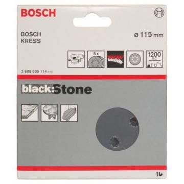 Bosch 2608605114 Sanding Discs for Stone 115 mm B:S Grit K1200 Pack of 5 NEW