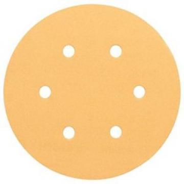 Bosch 2608607838 - Platorelli abrasivi B.f.Wood; 150 mm, P180, 6 fori, 50 pezzi