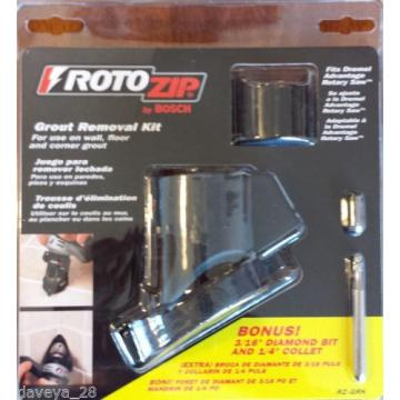 "Bosch RotoZip Grout Removal Kit w/ Bonus 3/16"" Diamond Bit & 1/4"" Collet RZ-GRK"