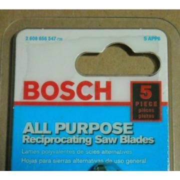 Bosch SAPP6 6'' All Purpose reciprocating saw blades 4 packs of 5 blades NOS NIP
