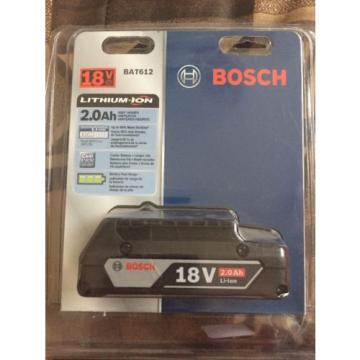 NEW Bosch BAT612 18V 2.0Ah Lithium Ion Battery w/ Fuel Gauge