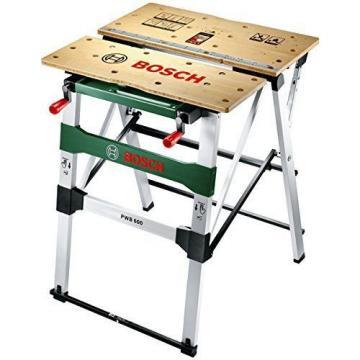 Mesa de trabajo Bricolage Bosch PWB 600 Con Mordazas de Sujección Aguante 200 Kg