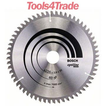 Bosch 216mm x 30mm x 60 Teeth Optiline Wood Cut Circular Saw Blade 2608640642