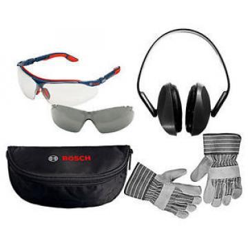 Bosch Safety Glasses, Rigger Gloves & Ear Defenders Pack - BOS0615990ER3
