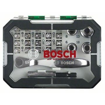 Bosch Screwdriver Bit and Ratchet Set 26 Pieces NEW