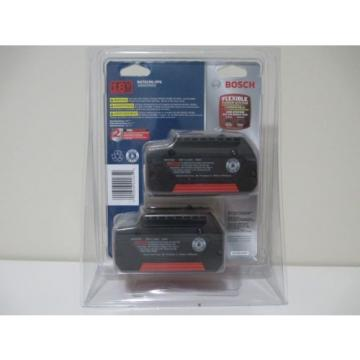 Bosch BAT619G 18V 3.0Ah Lithium-Ion FatPack Battery (2 Pack)
