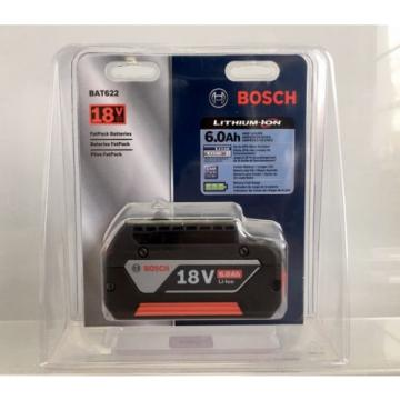 Bosch BAT622 (18V/ 6.0Ah) Lithium-Ion FatPack Battery Power Tools High Capacity