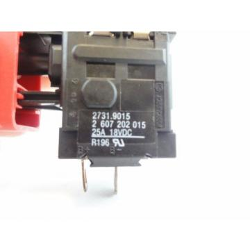 Bosch #2607202015 New Genuine OEM Switch for 34618 18V Drill / Driver