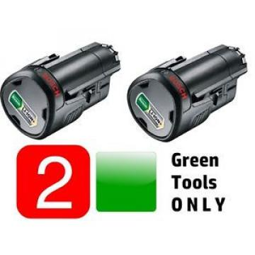2x GENUINE BOSCH 10,8V 2.0ah BATTERY Li-ION(GREEN TOOL) 1600A0049P 3165140808804