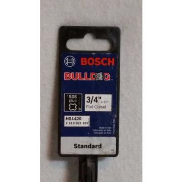 "BOSCH Bulldog HS1420 3/4"" x 10"" Flat Chisel - Bosch HS1420 SDS Plus Flat Chisel"