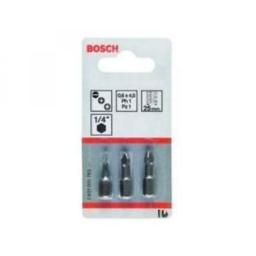 Bosch 2607001761 - Set di 3 innesti per avvitatore corti, qualità extra-dura,