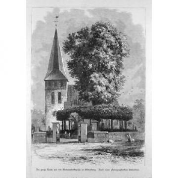 Die große Linde vor der Gertraudenkapelle in Oldenburg, gedruckt 1890