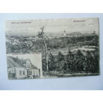 Ansichtskarte Leutenthal Gesamtansicht 1913 Gasthof zur Linde